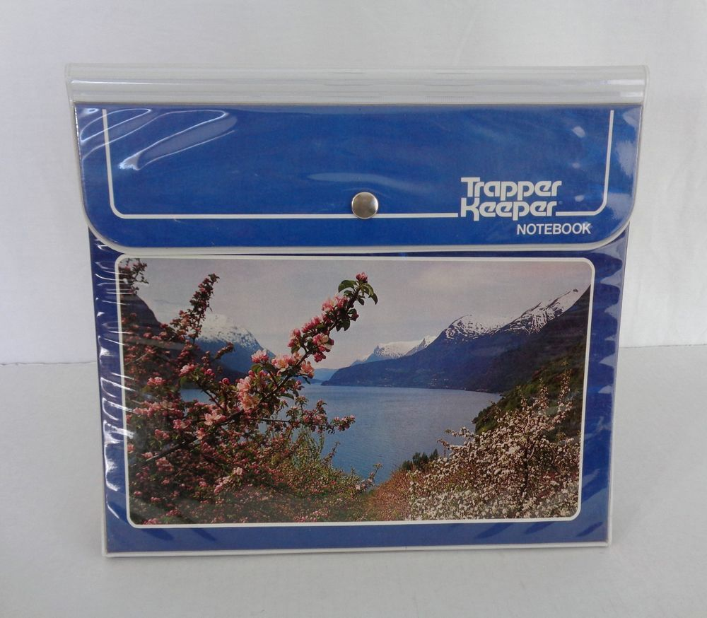 Vintage 80s MEAD TRAPPER KEEPER Mountains Trees 3 Folders & Notepad – Never Used #MeadTrapperKeeper