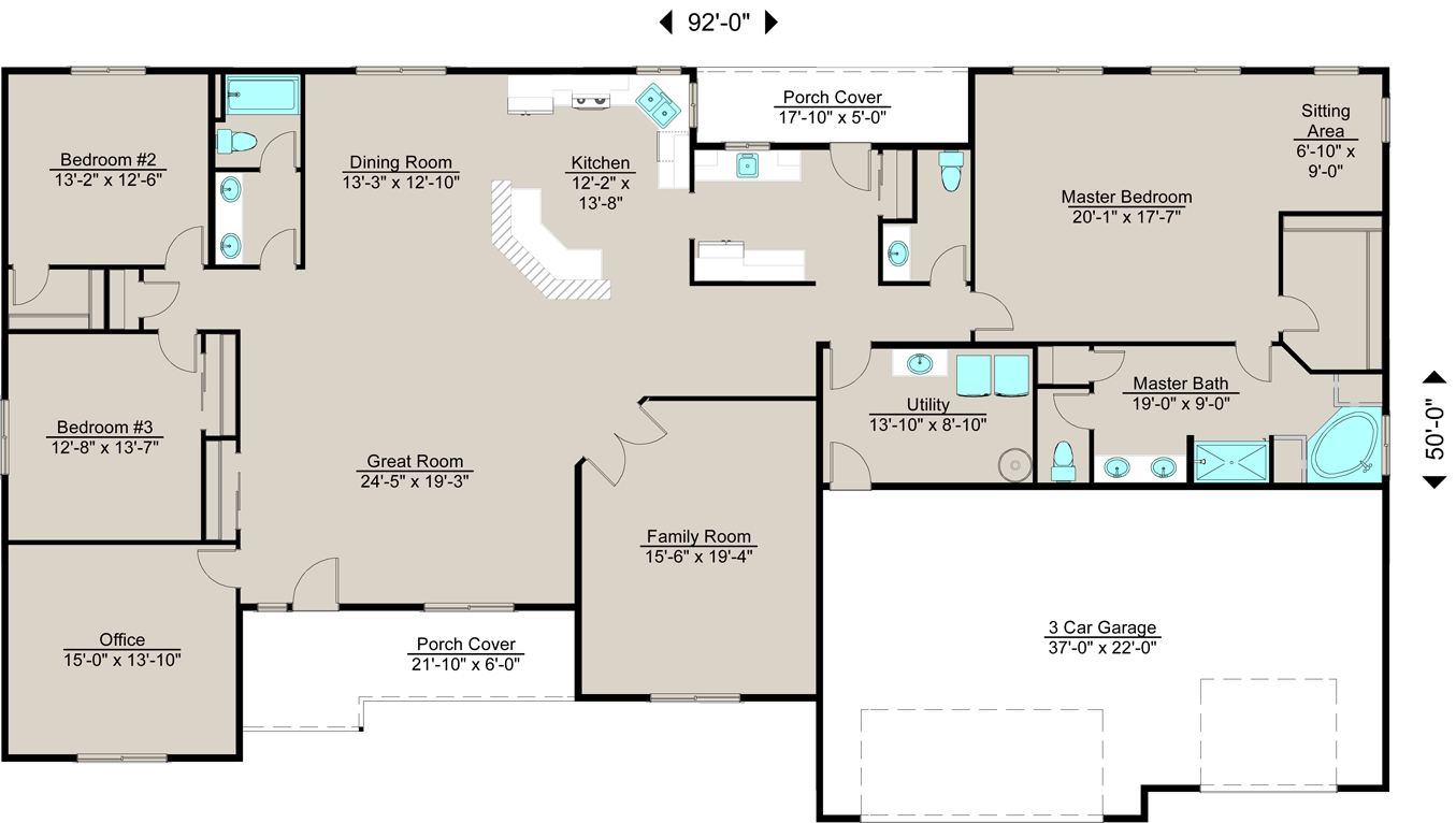 Lexar 3180 3 could be 4 bedrooms 2 5 bath 3 car - 4 bedroom 3 car garage house plans ...