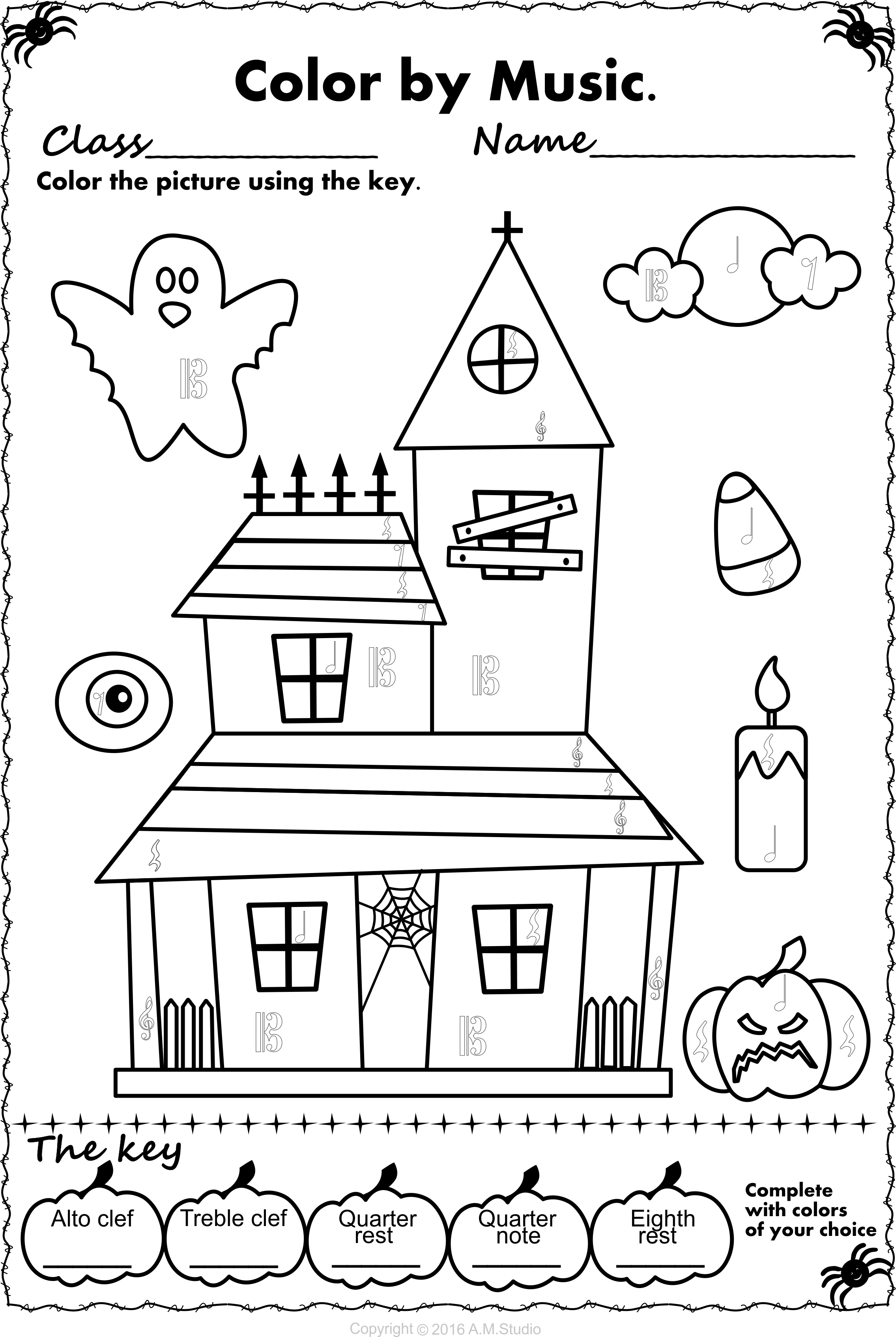 Halloween Color By Music Pack Halloween Music Activities And Students