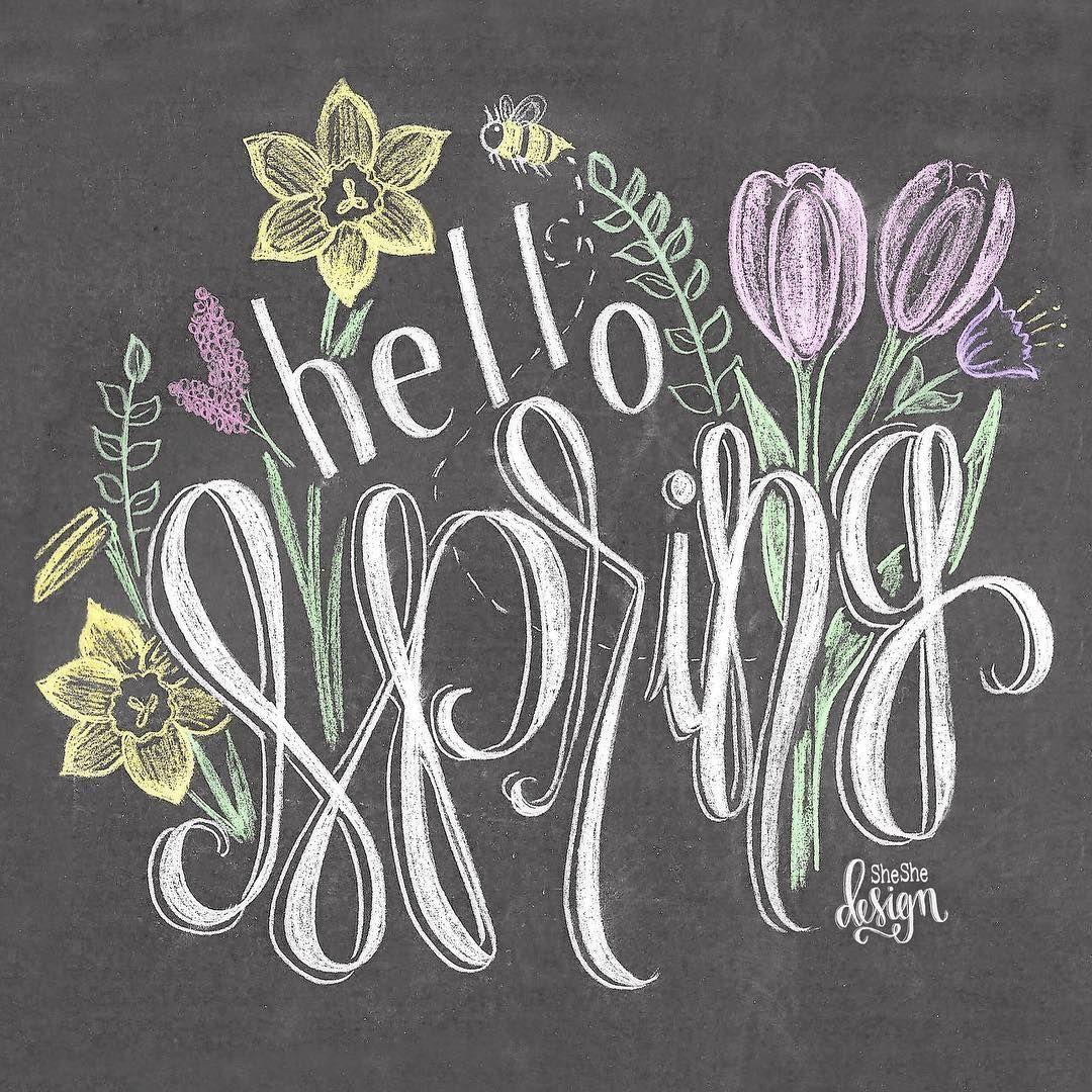 Blackboard Artwork Ideas: Pin By Jo = ^,^= Allen On _Everyone Loves Spring