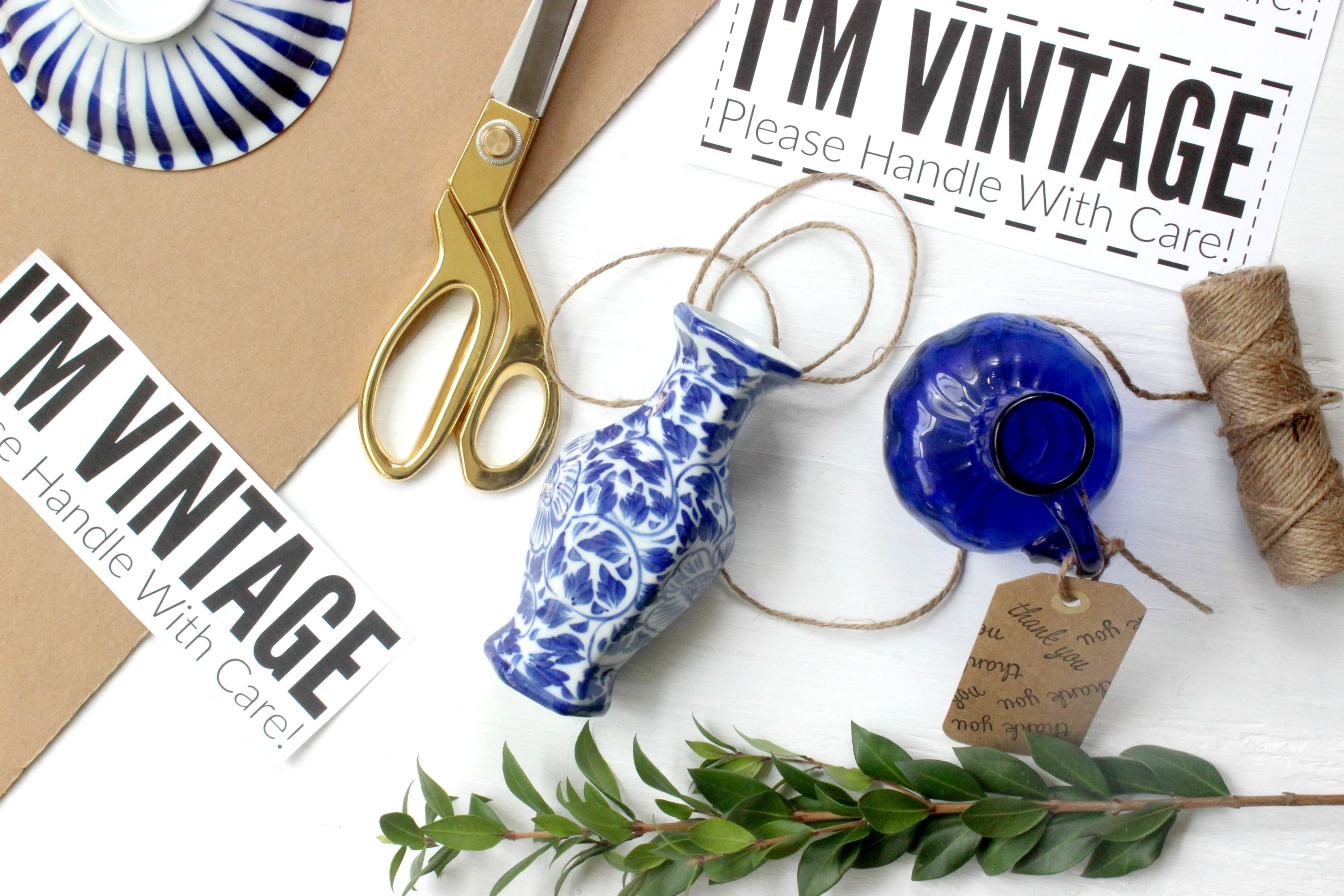 Tips For Shipping Vintage Items + A Free Printable! (With