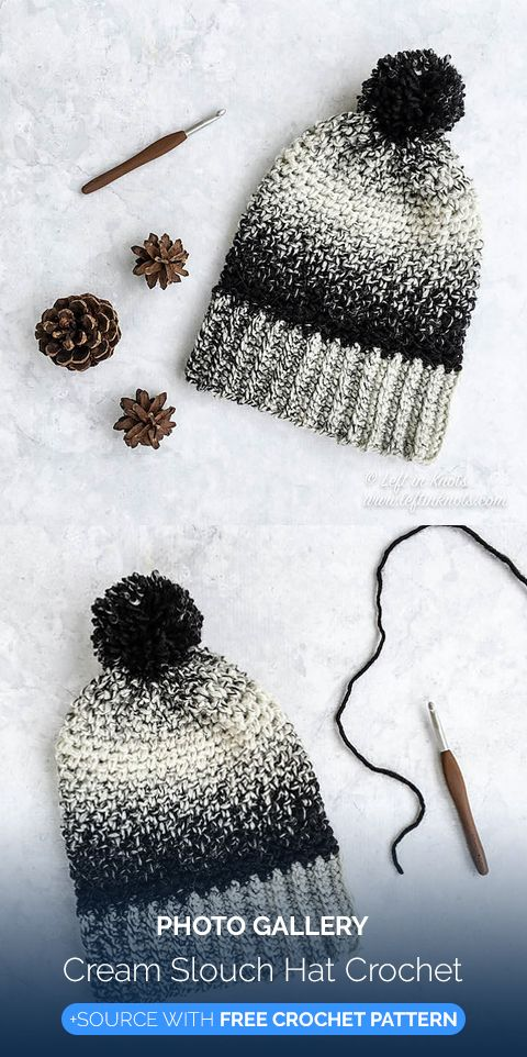 Cream Slouch Hat Crochet | Maggie\'s Crochet - All About Crocheting ...