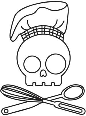 Skully Chef design (UTH1944) from UrbanThreads.com
