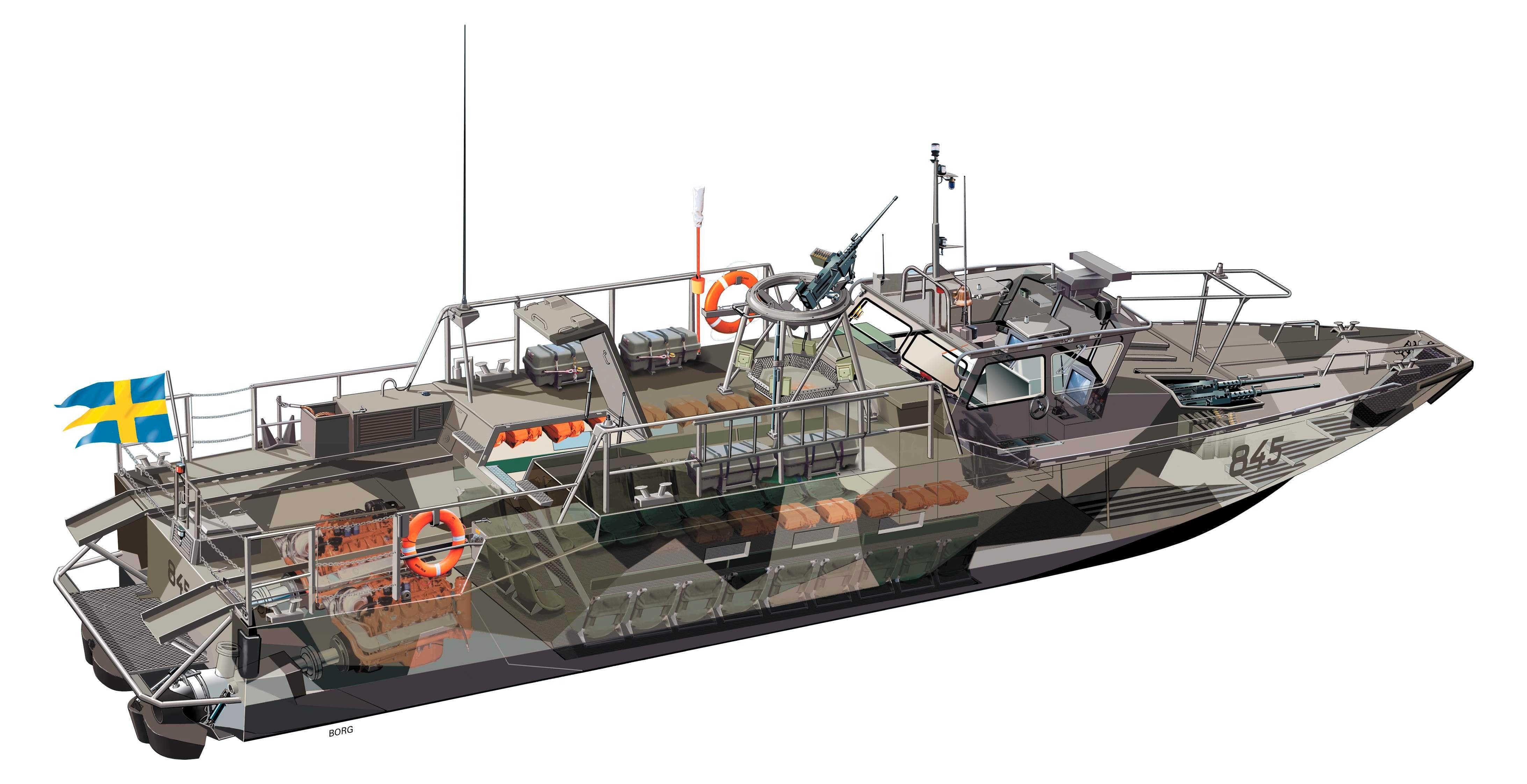Combat Boat Cb 90 H Fast Assault Craft Inter Pinterest