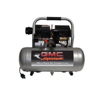 gallon gmc syclone a ultra quiet and oil air 1 6 gallon gmc syclone 1675a ultra quiet and oil air compressor gmc power equipment