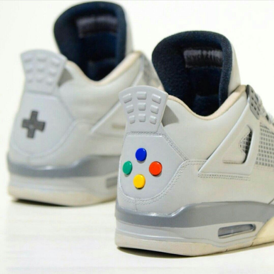 NIKE JORDAN Ⅳ - custom - super nintendo edition.
