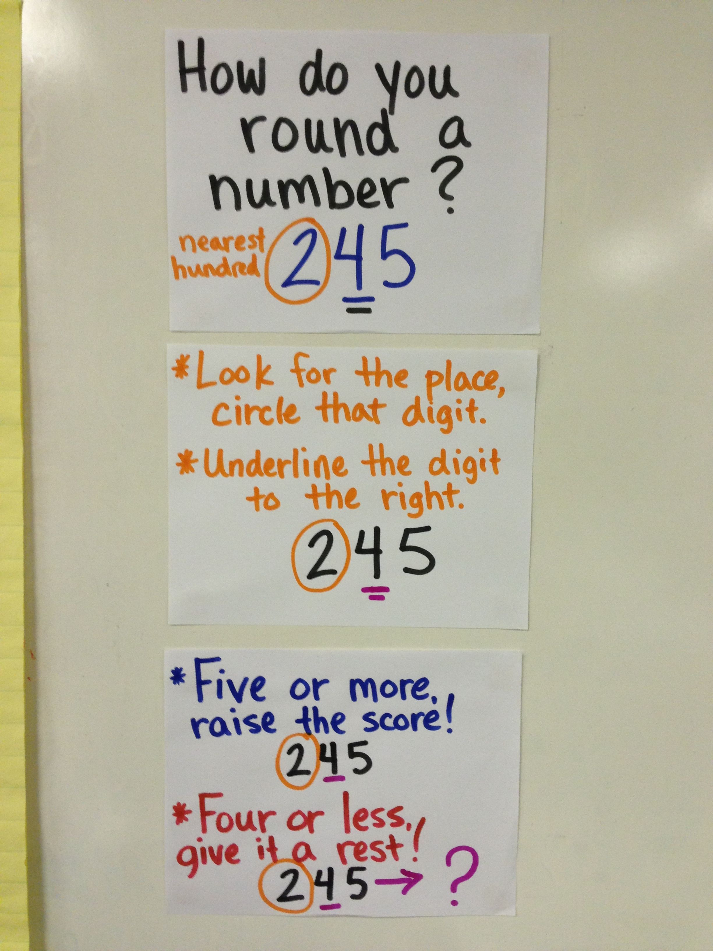 Rounding Whole Numbers 3rd And 4th Grades With Images