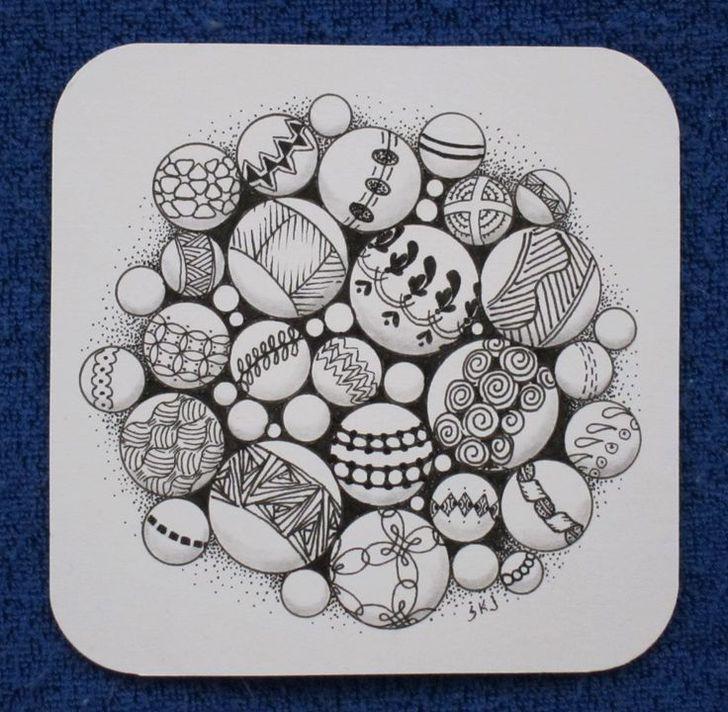 Zentangle tutorial marble doodle zentangle patterns for Doodle tutorial