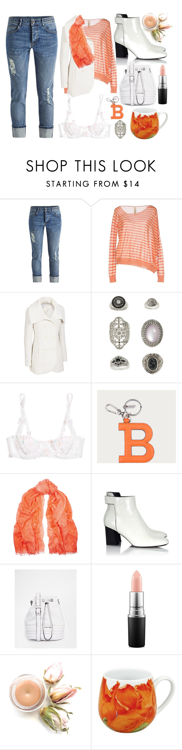 """Maeve"" by goingdigi ❤ liked on Polyvore featuring Pinko Tag, Jessica Simpson, Topshop, Agent Provocateur, Bally, STELLA McCARTNEY, Proenza Schouler, Calvin Klein, MAC Cosmetics and Könitz"