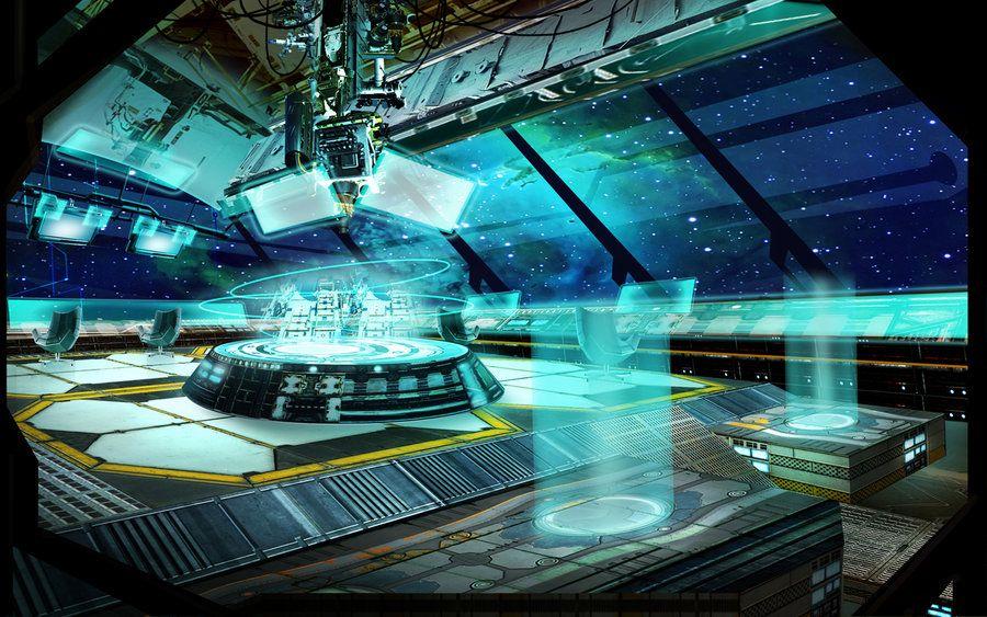 single person bridge sci fi spacecraft - photo #22