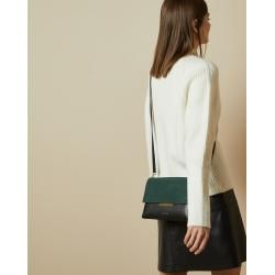 Photo of Leather and suede shoulder bag ted baker ted baker