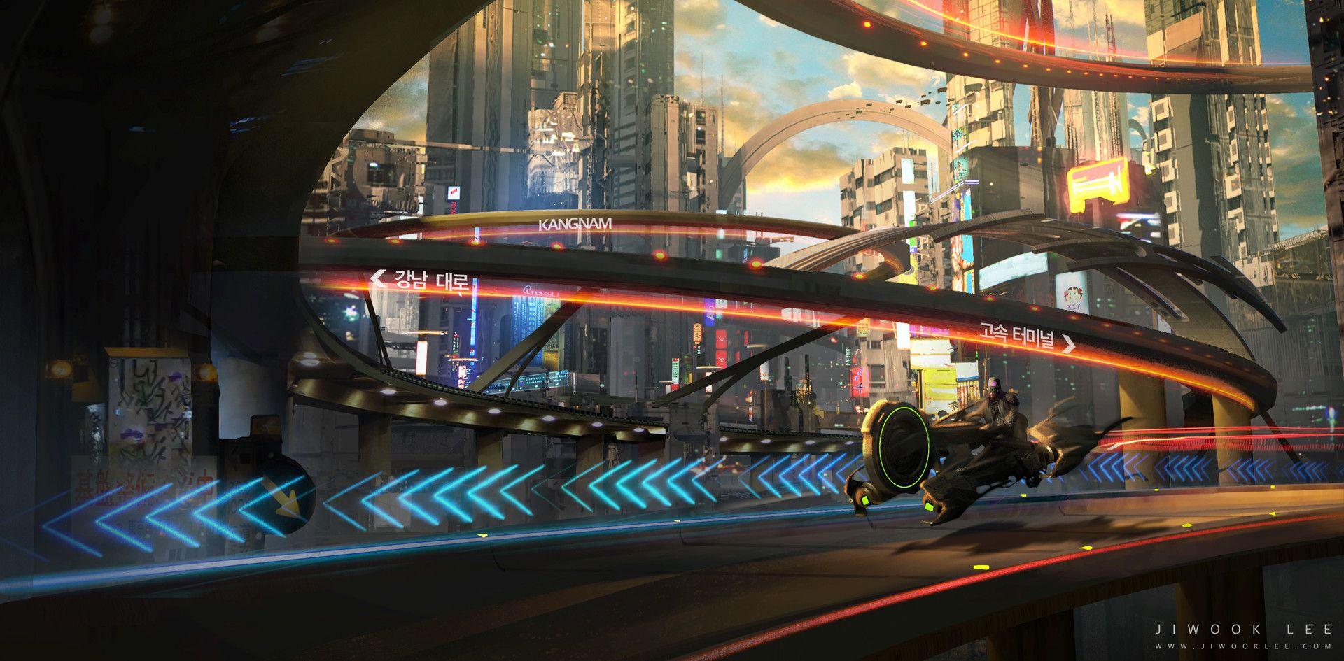 Kangnam by Jiwook Lee Cyberpunk, Landmarks, High tech