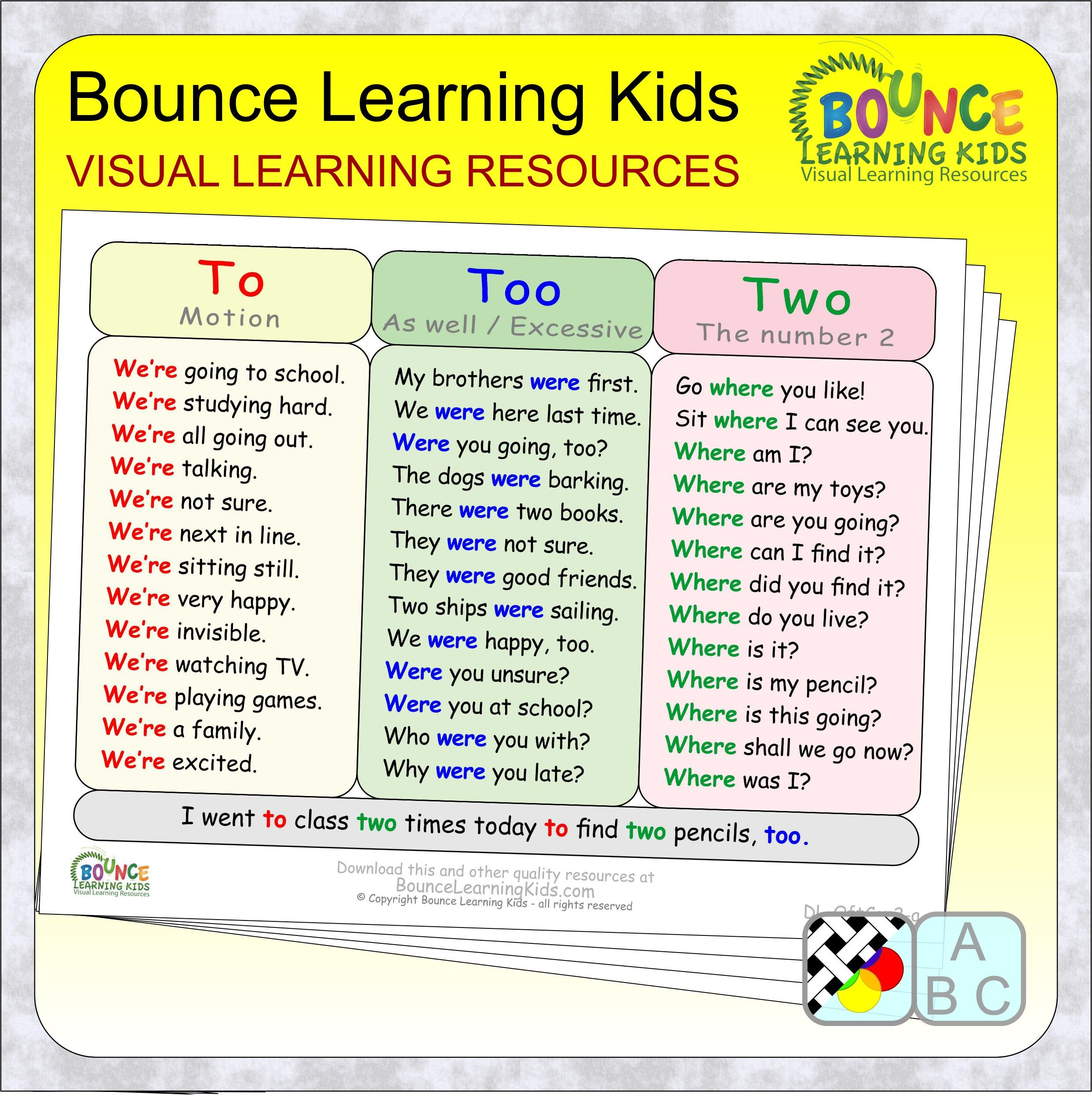 Often Confused Words 2 24 Distance Learning Literacy Sheets