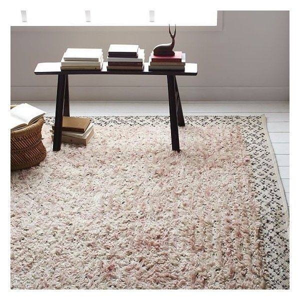 West Elm Sequin Knotted Wool Rug Carnation 8 X10 640