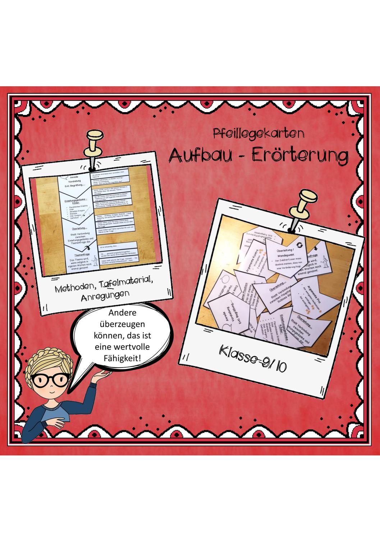 Argumentation Ubersicht Legekarten Deutsch Unterricht Erorterung Legenden
