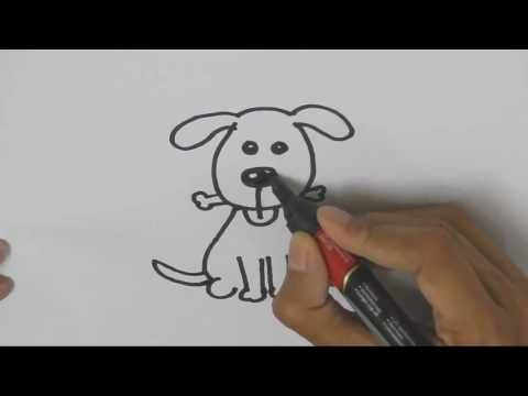 Copy of How to draw Cute Dog- Step by step for children, kids - copy children's abc coloring pages