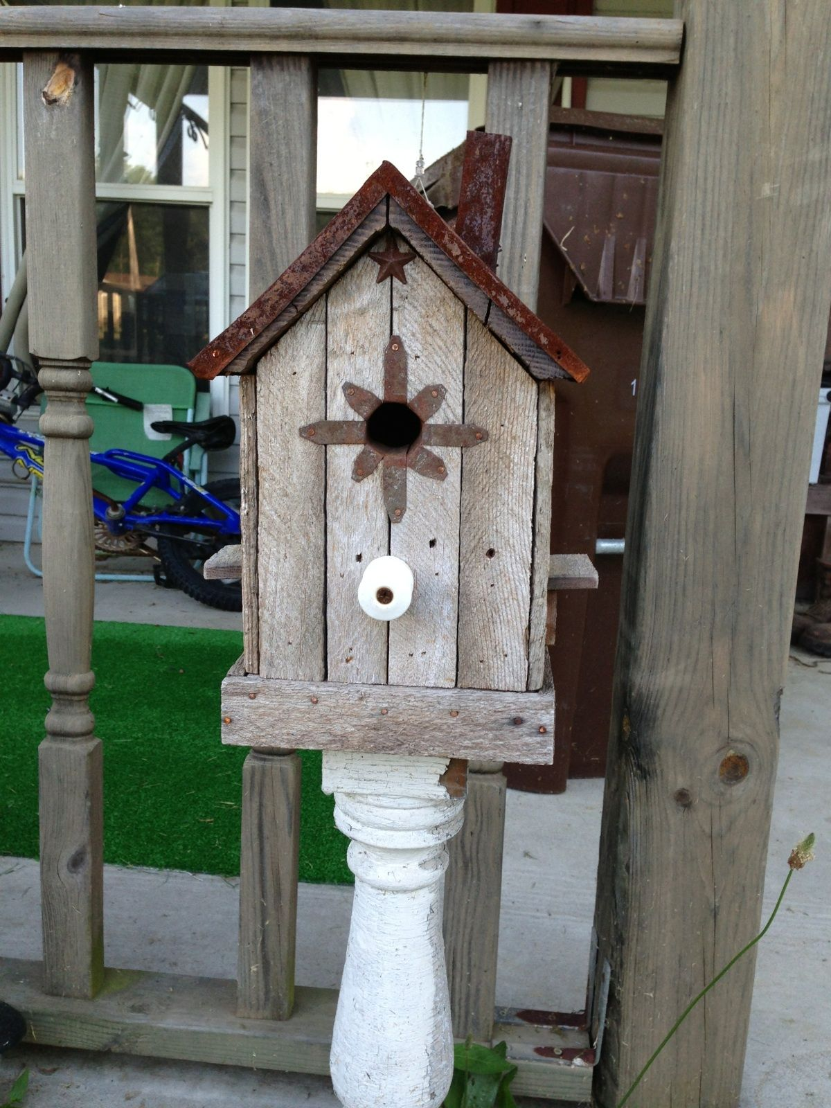"Primitive Birdhouse ""The Rusty Chimney"" Birdhouses"