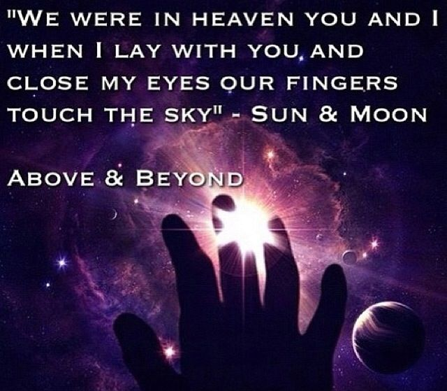 Above Beyond Sun Moon With Images Heaven Music Trance