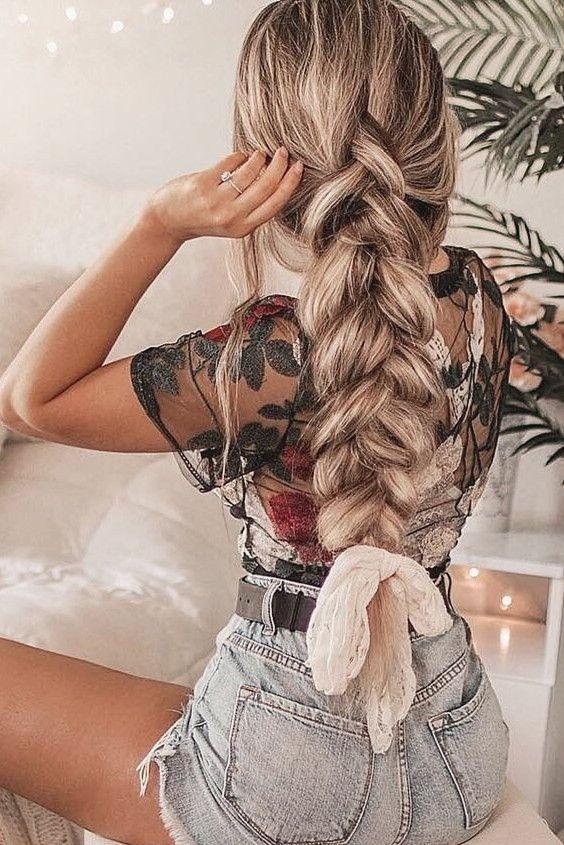 Sheer Mesh Floral Embroidered Crop Top Braids For Long Hair Long Hair Styles Curly Hair Styles Naturally