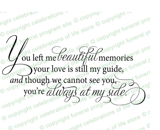 Beautiful Memories Funeral Poem Word Art Tattoos Pinterest