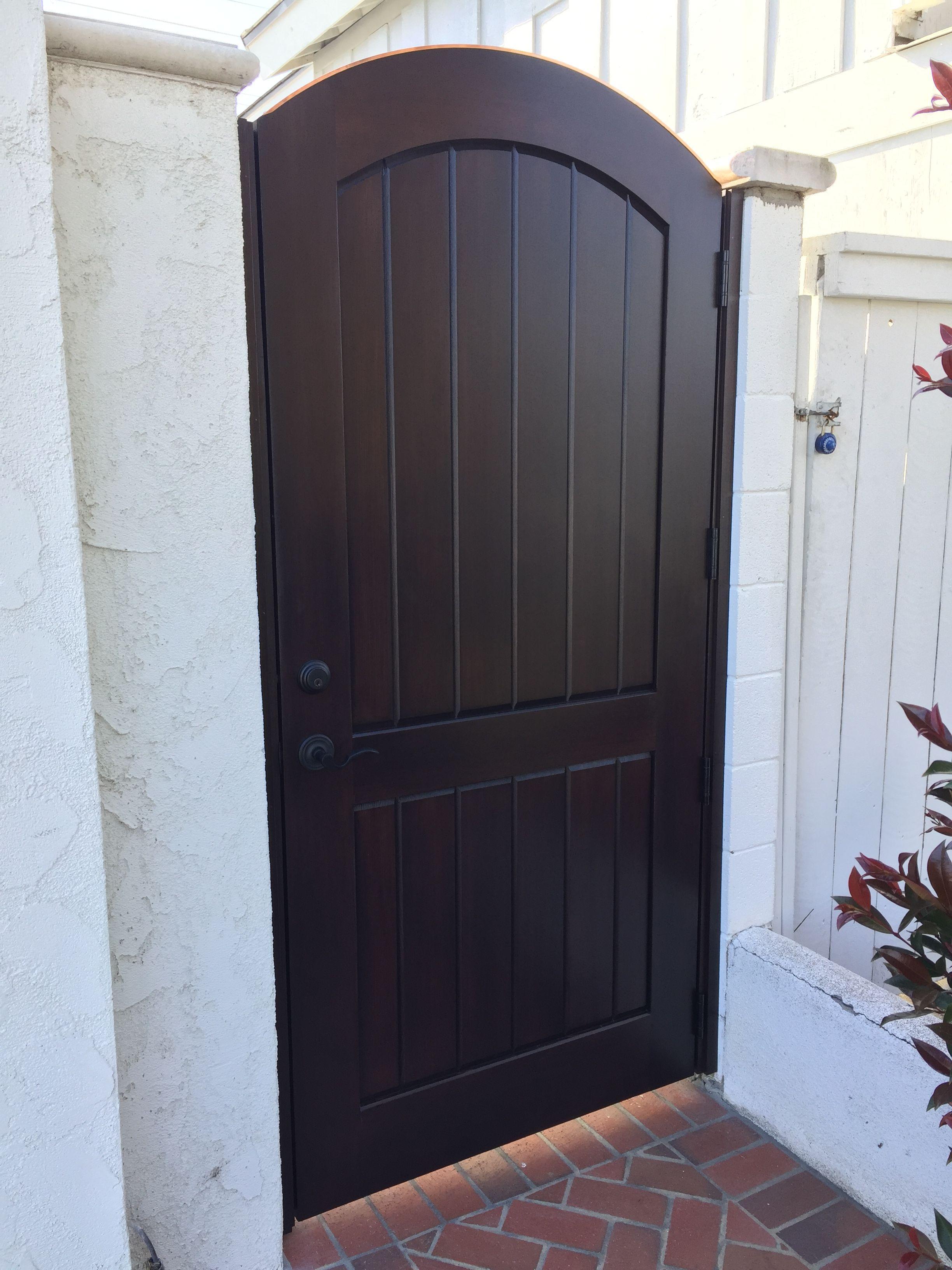 Custom Wood Gate by Garden Passages - Simple, Elegant Side ...