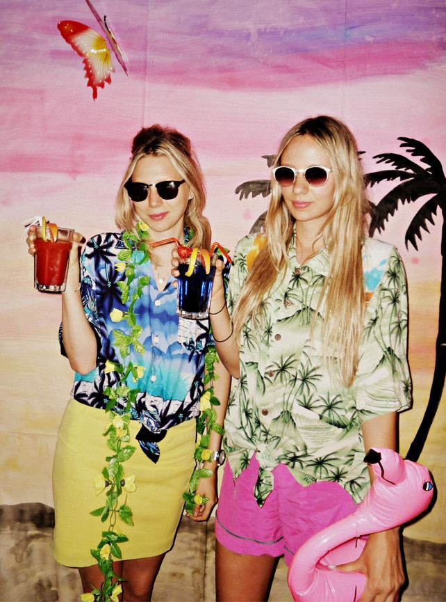 Club Tropicana With Images Tropical Party Outfit Bachelorette