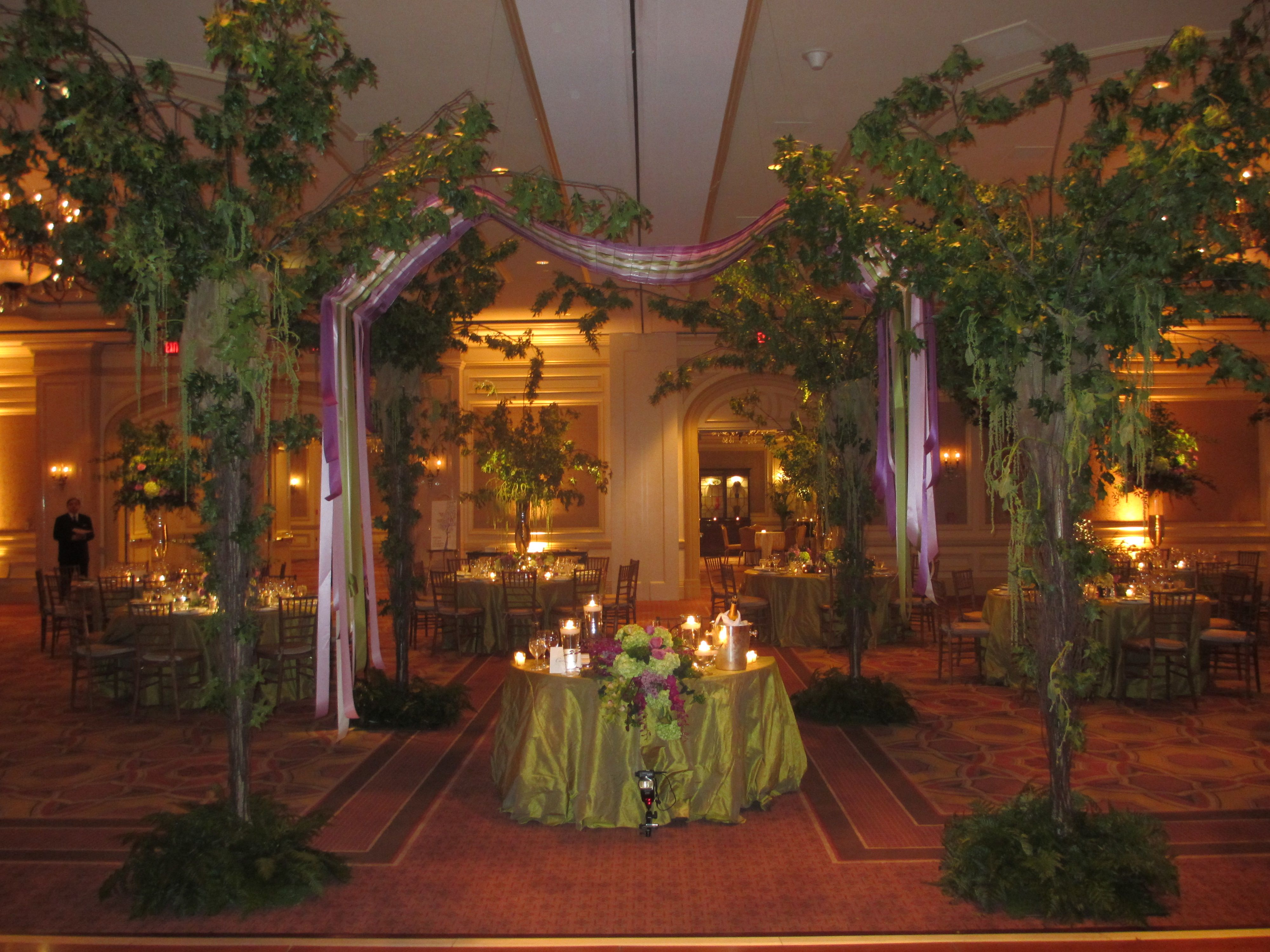 Sweetheart Table Enchanted Garden Themed Wedding