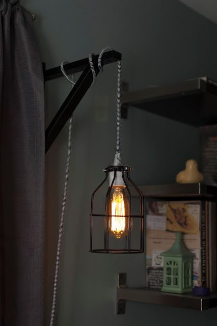 Diy Homemade Vintage Edison Hanging Bedroom Lights With Filament Bulbs Neat Retro Cord And Cage Bedroom Lighting Hanging Bedroom Lights Hanging Edison Lights