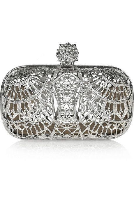 Alexander McQueen Alexander Mcqueen The Skull Swarovski Crystal Embellished Box Clutch H8IKof8If
