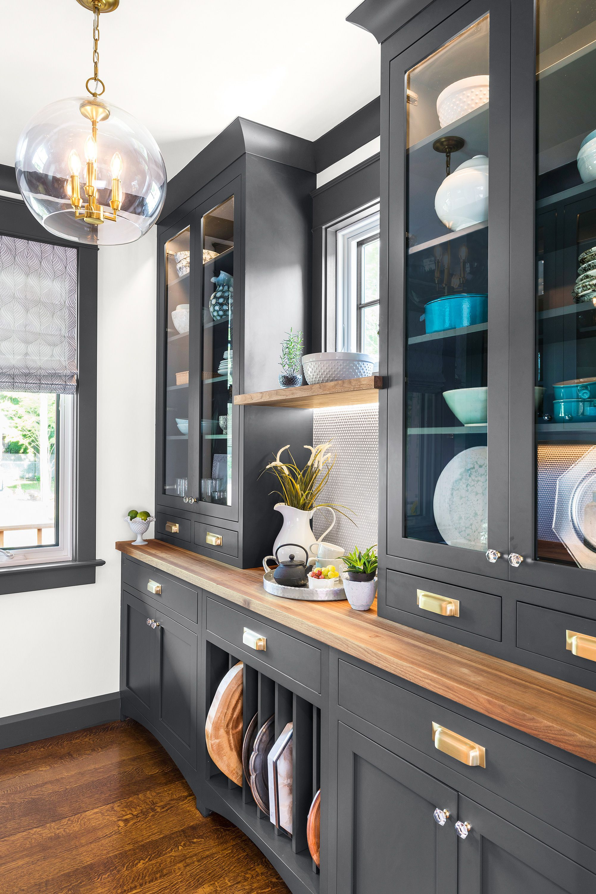 #house #idea #Play #spaces #work Our butler's pantry meets modern-day storage …