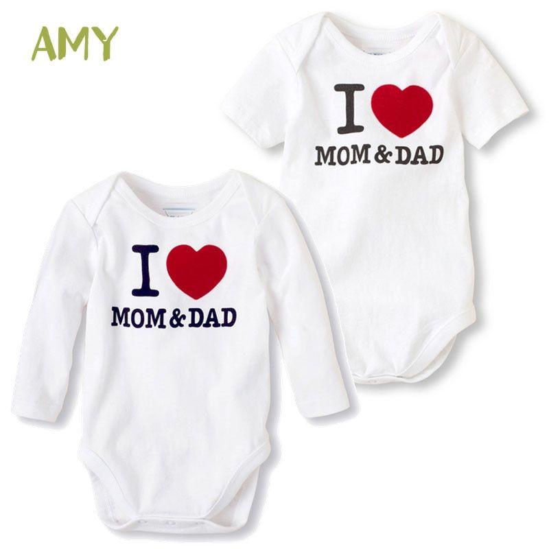 Babys Long Sleeve Romper,I-Love-Pugs Jumpsuit Bodysuit Clothes