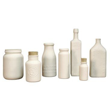 Check out this item at One Kings Lane! Collection of 7 Jars & Bottles