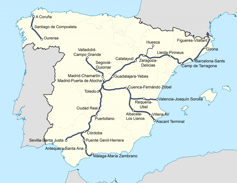 Travelling By Train In Madrid Commuter Train Cercanías High Speed Train Ave Map Of Spain Spain Spain Travel