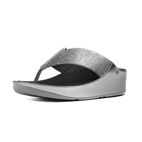 3601a65cff7761 FitFlop Crystal Sandals in Pewter colour available from Brandshop UK with  FREE postage and returns.