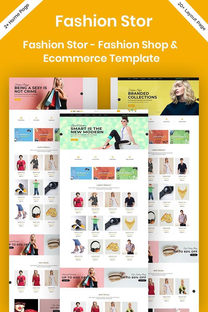 Fashion Stor - Fashion Shop & Ecommerce Website Template #96294