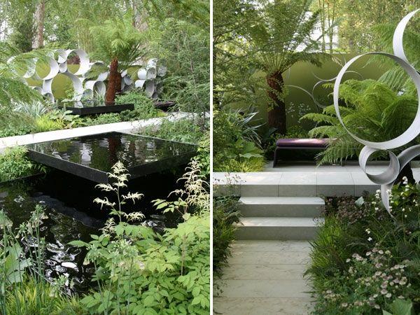 wasser im garten modern bilder ideen kunst Moderner Garten - ideen garten modern
