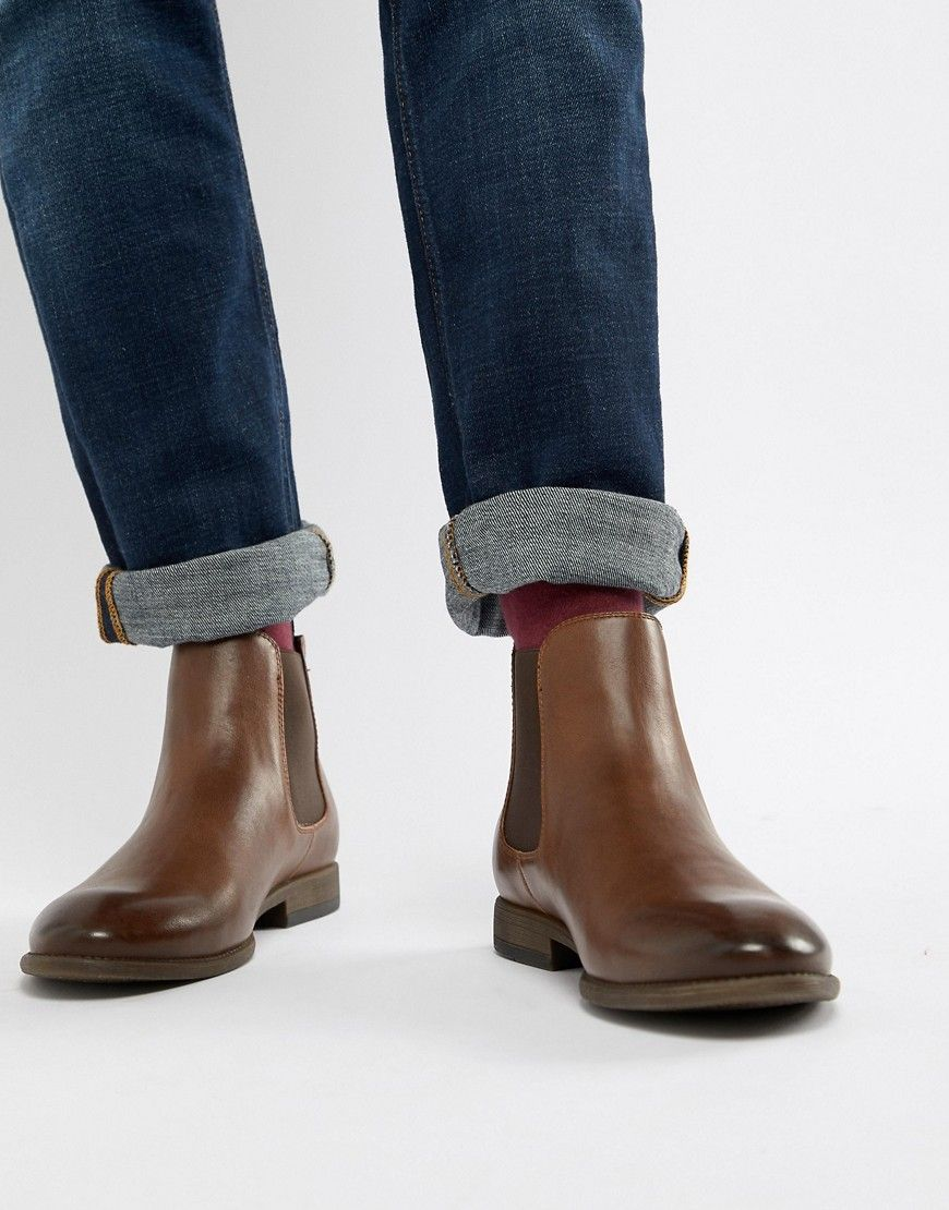 6591765e8761c NEW LOOK FAUX LEATHER CHELSEA BOOTS IN BROWN - BLACK. #newlook #shoes