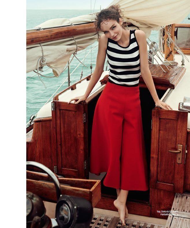 Beyond the Sea: Luma Grothe by Danny Cardozo for Harper's Bazaar Mexico and Latin America June 2015 - Dolce&Gabbana