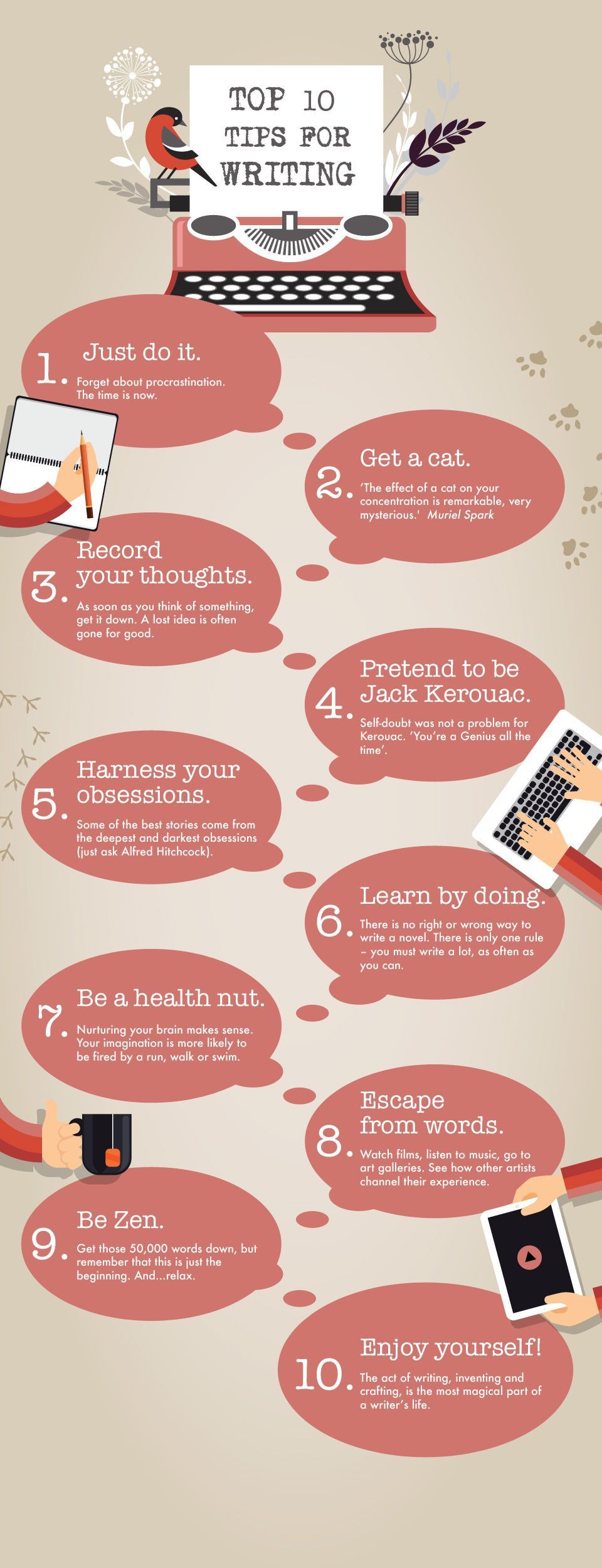 10 Creative Writing Tips From The Open University