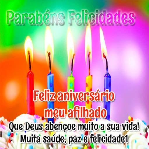 Afilhado Feliz Aniversario Pinterest Mensagem Aniversario