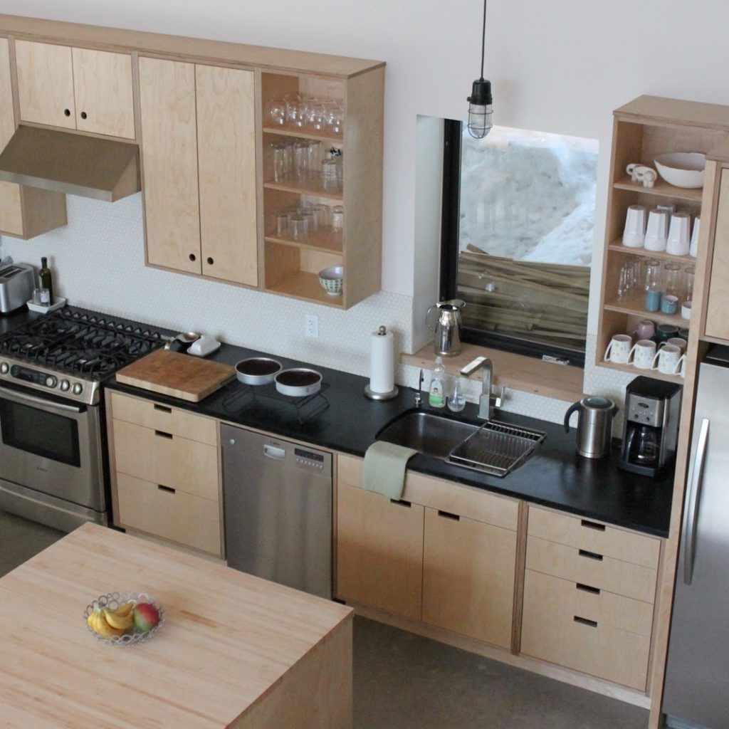 Plywood Kitchen Cabinet Doors Plywood Cabinets Kitchen Plywood Kitchen Black Appliances Kitchen