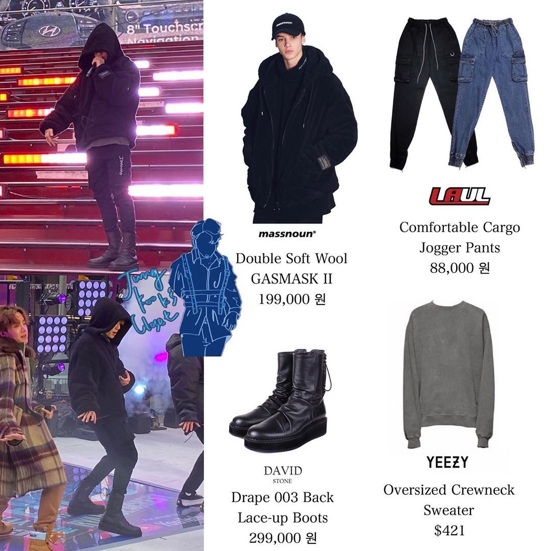 Official Jungkook S Closet On Instagram 191231 Time Square Twitter Update With Bts Jungkook We Bts Inspired Outfits Bts Clothing Kpop Fashion Outfits