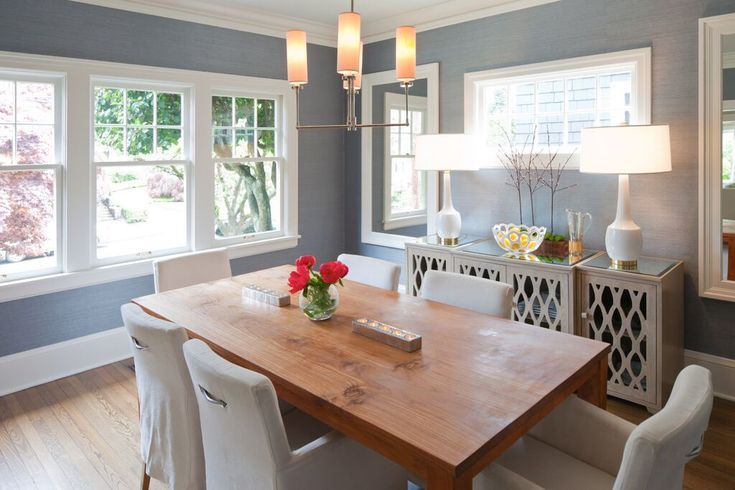 Contemporary Transitional Formal Dining Room Design by