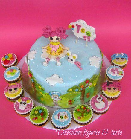 LALALOOPSY CAKE AND CUPCAKE  Cake by Dzesikacakescupcakes