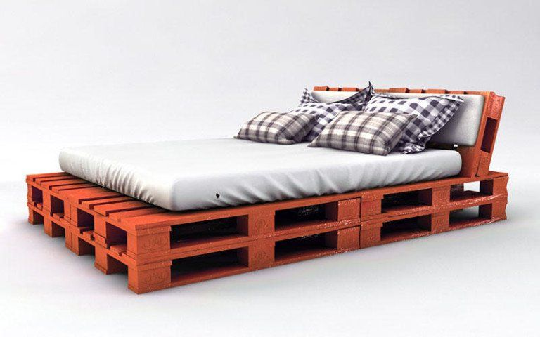 Palettenbett Bauen Ganz Einfach Hier 2 Praktische Varianten Bett Aus Paletten Bauen Bett Aus Paletten Und Palettenbett