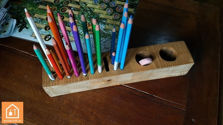 Fabriquer soi-même un porte crayon en bois DIY  Déco Pinterest