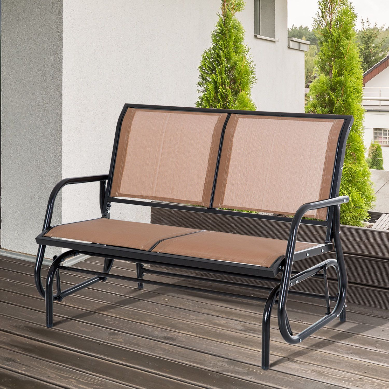 Outdoor patio glider double swing chair garden person rocking