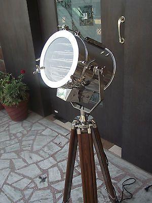 Nautical Designer Floor Lamp Tripod Searchlight Home Decor Spot Light Tripod Floor Lamps Tripod Floor Light Floor Lamp Design