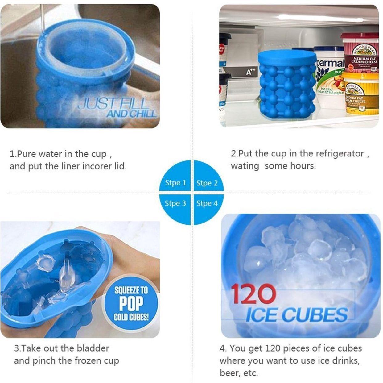 Space Saving Ice Cube Maker Kitchen Kitchenorganization Icedtea Ice Cube Maker Cube Weird Gifts