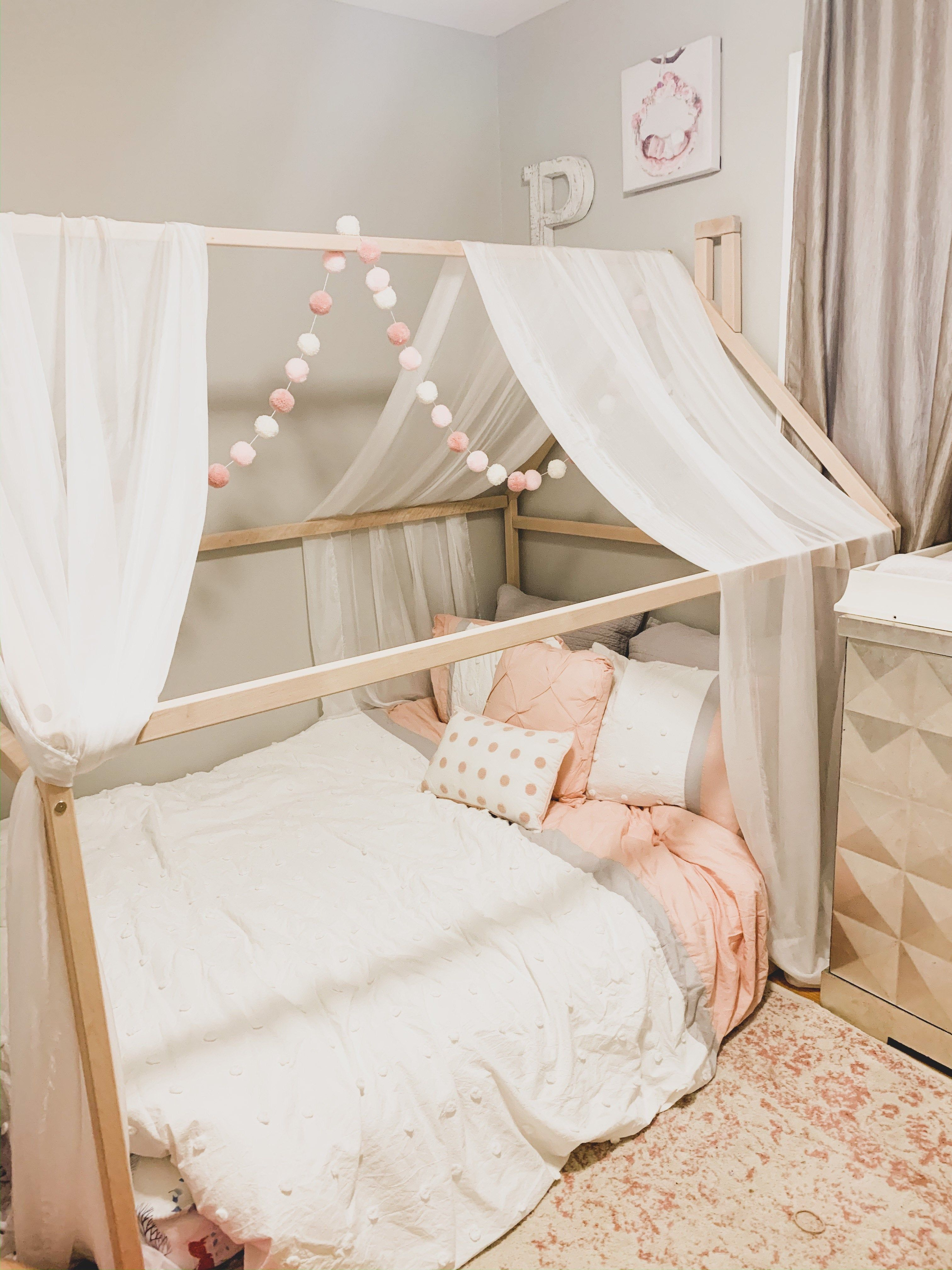 Wood Bed Full Double Toddler Bed Frame Tent Bed Wooden House Bed Frame Wood Nursery Bed House Baby Bed Wood Bed Kids Bed Gift Slats In 2020 House Frame Bed Toddler Bed